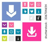 down arrow download icon set....