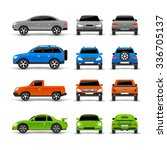 cars side front and back icons... | Shutterstock .eps vector #336705137