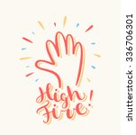 high five  greeting card. | Shutterstock .eps vector #336706301
