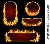 Burning Fire Realistic Frames...