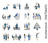 business training and... | Shutterstock .eps vector #336706691