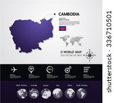 cambodia map vector illustration | Shutterstock .eps vector #336710501