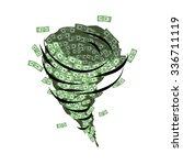 money tornado. whirlwind of... | Shutterstock .eps vector #336711119