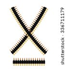 bandolier with bullets.... | Shutterstock .eps vector #336711179
