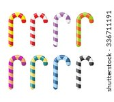 set candy cane. christmas... | Shutterstock .eps vector #336711191