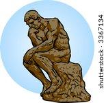 thinker | Shutterstock .eps vector #3367134