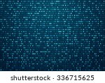 abstract blue technology... | Shutterstock .eps vector #336715625