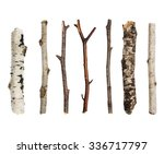twigs  set macro dry branches... | Shutterstock . vector #336717797