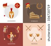gladiator design concept set...   Shutterstock .eps vector #336720719