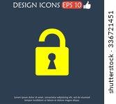 lock icon.  flat design style...