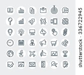 thin lines web icons set.... | Shutterstock .eps vector #336722945