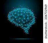 polygonal human brain. the...   Shutterstock .eps vector #336722969