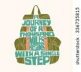 vector hand drawn typography... | Shutterstock .eps vector #336735815