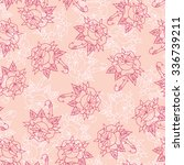 seamless pattern with roses | Shutterstock .eps vector #336739211