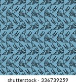 seamless pattern with  swallows ... | Shutterstock .eps vector #336739259