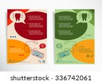 tooth icon on abstract brochure ... | Shutterstock .eps vector #336742061