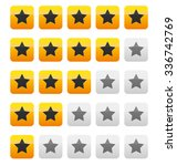 star rating vector. star rating ... | Shutterstock .eps vector #336742769