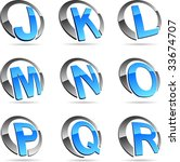 set of letter vector icons such ... | Shutterstock .eps vector #33674707