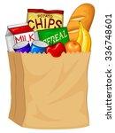 vector illustration of a bag... | Shutterstock .eps vector #336748601
