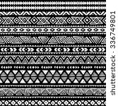 black and white tribal navajo... | Shutterstock .eps vector #336749801