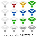 signal strength indicator... | Shutterstock .eps vector #336757115