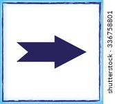 arrow indicates the direction ... | Shutterstock .eps vector #336758801