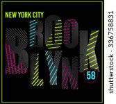 brooklyn neon typography  t... | Shutterstock .eps vector #336758831
