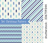 set of seamless christmas... | Shutterstock .eps vector #336759344