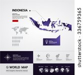 indonesia map | Shutterstock .eps vector #336759365