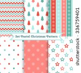 set of seamless christmas... | Shutterstock .eps vector #336759401