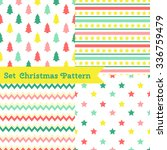 set of seamless christmas... | Shutterstock .eps vector #336759479