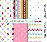 set of seamless christmas... | Shutterstock .eps vector #336759485