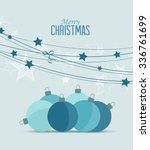 retro decorative christmas...   Shutterstock .eps vector #336761699