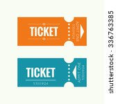 entry ticket to old vintage... | Shutterstock .eps vector #336763385