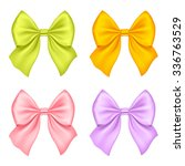 set of silk bow. vector... | Shutterstock .eps vector #336763529