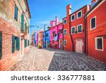 colourfully painted house... | Shutterstock . vector #336777881