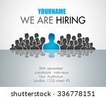 we are hiring background for... | Shutterstock .eps vector #336778151