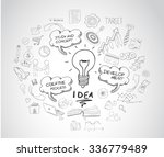 idea concept with light bulb... | Shutterstock .eps vector #336779489