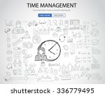 time management concept with... | Shutterstock .eps vector #336779495