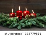 Advent Decoration Wreath With...