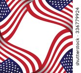 american flag background with... | Shutterstock .eps vector #336779924
