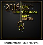 2016 happy new year and merry... | Shutterstock .eps vector #336780191