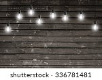 vintage incandescent bulbs on... | Shutterstock . vector #336781481
