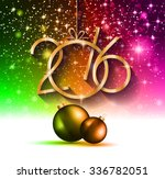 2016 happy new year and merry... | Shutterstock .eps vector #336782051