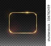 vector golden frame. shining... | Shutterstock .eps vector #336782459