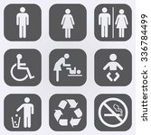 people icon set . toilet... | Shutterstock .eps vector #336784499