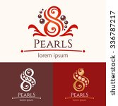 eight pearls. logo template... | Shutterstock .eps vector #336787217