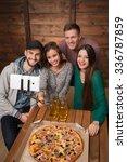 happy friends making top view... | Shutterstock . vector #336787859