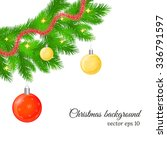 christmas and new year... | Shutterstock .eps vector #336791597