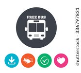 bus free sign icon. public...